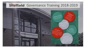Governance Training 2018 2019 Governance Training Development Offer