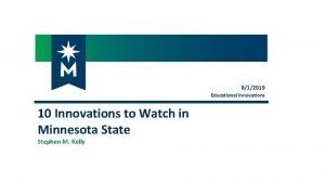 812019 Educational Innovations 10 Innovations to Watch in