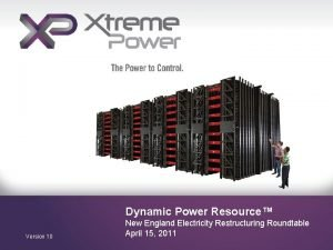 Dynamic Power Resource Version 10 New England Electricity