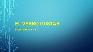 EL VERBO GUSTAR AVANCEMOS 1 3 1 GUSTAR