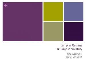 Jump in Returns Jump in Volatility Kyu Won