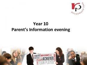 Year 10 Parents Information evening GCSE Reform Content