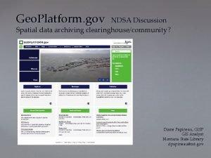 Geo Platform gov NDSA Discussion Spatial data archiving