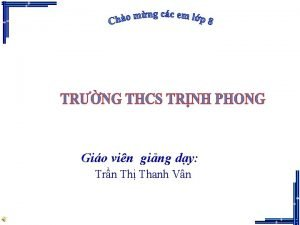 Gio vin ging dy Trn Th Thanh Vn
