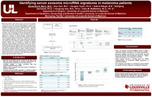 Identifying serum exosome micro RNA signatures in melanoma