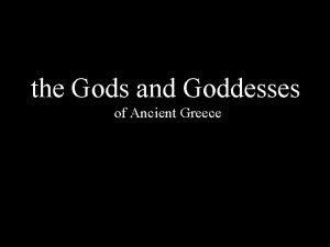 the Gods and Goddesses of Ancient Greece MOUNT