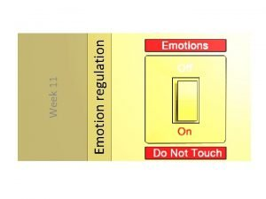 Emotion regulation Week 11 Todays questions From Week