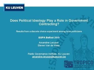 Does Political Ideology Play a Role in Government