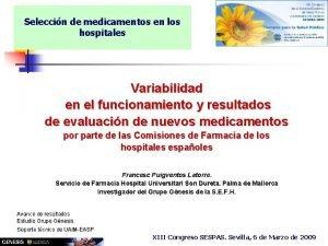 Seleccin de medicamentos en los hospitales Variabilidad en