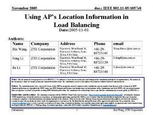 November 2005 doc IEEE 802 11 051057 r
