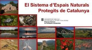El Sistema dEspais Naturals Protegits de Catalunya POSADA