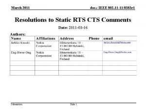 March 2011 doc IEEE 802 11 110383 r