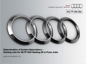 WLTP08 09 e Determination of System Equivalency Starting