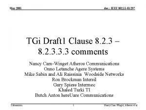 May 2001 doc IEEE 802 11 01297 TGi