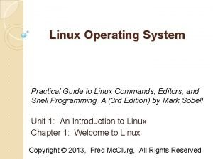 Linux Operating System Practical Guide to Linux Commands