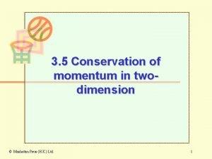 3 5 Conservation of momentum in twodimension Manhattan