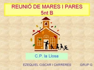 REUNI DE MARES I PARES 5 nt B