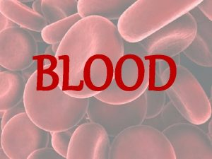 BLOOD BLOOD TYPES AND BLOOD TRANSFUSIONS Class Starter