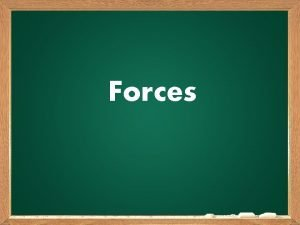 Forces What is Force a force is any