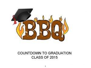COUNTDOWN TO GRADUATION CLASS OF 2015 1 Graduation