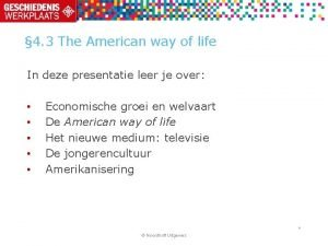 4 3 The American way of life In