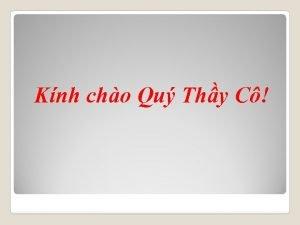 Knh cho Qu Thy C KIM NH CHT