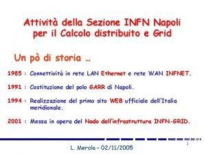 Attivit della Sezione INFN Napoli per il Calcolo