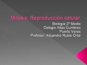 Mitosis Reproduccin celular Biologa 2 Medio Colegio Altas