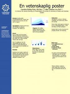 En vetenskaplig poster Carolina Klyftig Flink RN 1