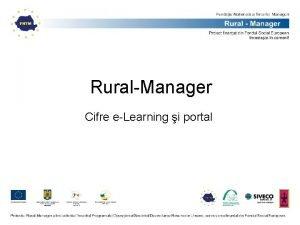RuralManager Cifre eLearning i portal Statistici eLearning Ae