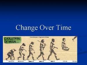 Change Over Time Vocabulary n n n Evolution