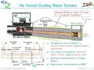 He Vessel Cooling Water System Vessel filled w
