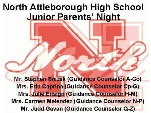 North Attleborough High School Junior Parents Night Mr