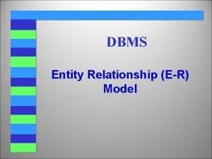 DBMS Entity Relationship ER Model The Entity Relationship