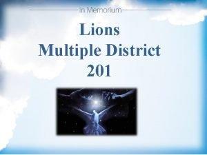 Lions Multiple District 201 201 C 1 Lion