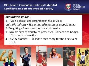 OCR Level 3 Cambridge Technical Extended Certificate in