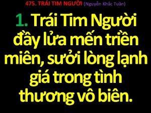 475 TRI TIM NGI Nguyn Khc Tun 1