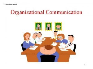 2010 Cengage Learning Organizational Communication 1 2010 Cengage