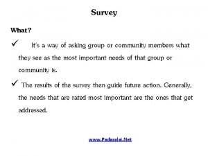Survey What Its a way of asking group