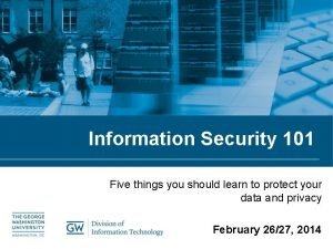 Information Security 101 Five things you should learn