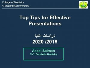 College of Dentistry AlMustansiriyah University Top Tips for