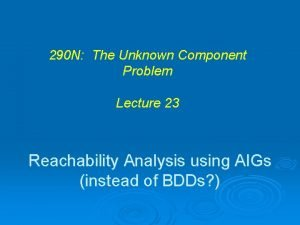 290 N The Unknown Component Problem Lecture 23