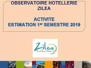 OBSERVATOIRE HOTELLERIE ZILEA ACTIVITE ESTIMATION 1 er SEMESTRE