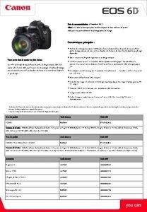 Date de commercialisation Dcembre 2012 Cible un reflex