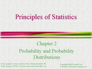 Principles of Statistics Chapter 2 Probability and Probability
