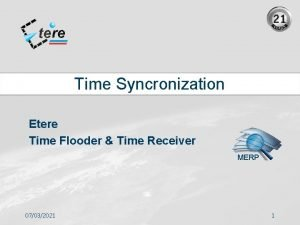 Time Syncronization Etere Time Flooder Time Receiver MERP