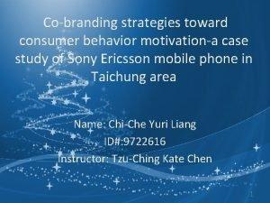 Cobranding strategies toward consumer behavior motivationa case study