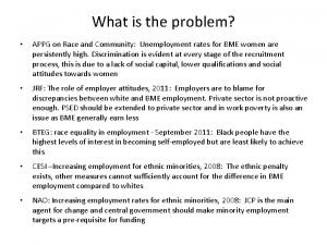 What is the problem APPG on Race and