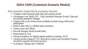 ISDA CDM Common Domain Model Next generation digital