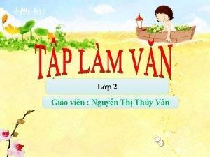 Lp 2 Gio vin Nguyn Th Thy Vn